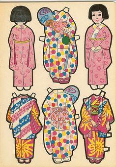 (⑅ ॣ•͈ᴗ•͈ ॣ)♡ Japanese paper dolls