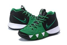 cd4a73010eb 2018 Nike Kyrie 4 Black Green-White For Sale