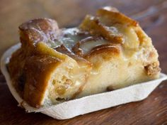 Bread Pudding with Spiced Rum Sauce by My Knotted Life