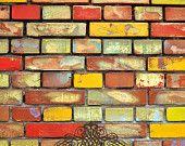 "54""x6' Photography Backdrop Wild Brick heavyweight matte vinyl Photo Prop"