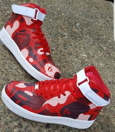 dcfb411fedf Red Ape camo Hand painted Shoes included 4 ro 6 week turn around time due  to high demand.
