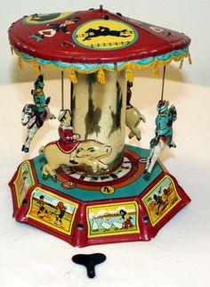 Antique Tin Carousel