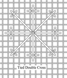 I ❤ embroidery . . . Tied Double Cross, Stitch of the Month August 2010 ~By Needlelace