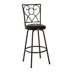 "Bellesol 30"" Swivel Barstool in Black"