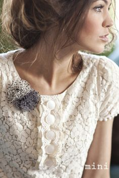 like the flowers added to the lace top