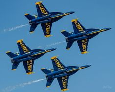 F/18 SUPER HORNETS Super Blues Burner 270 11x14 matting 8x10 print Signed by photographer, Jacob Warye. Blue Angels Practice, Mike Young, Us Navy Blue Angels, Navy Ships, Air Show, Hornet, Fighter Jets, Aviation, Blues