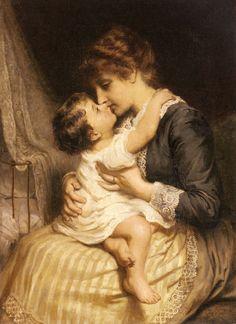 Motherly Love - Frederick Morgan - 1200artists.com