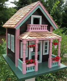 Colorful Cottage Birdhouse