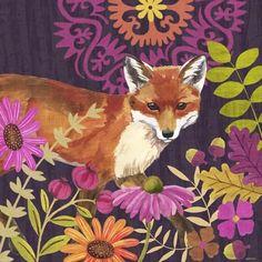 Autumn Woodland-Fox by Jennifer Brinley Fox Illustration, Illustrations, Graphic Design Illustration, Decoupage, Street Art, Fox Spirit, Fantastic Mr Fox, Fox Art, Art For Art Sake