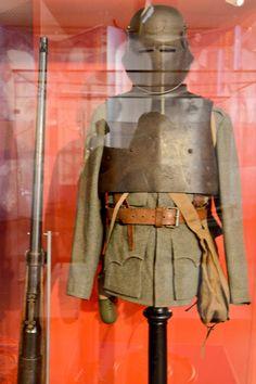 austrian WWI stormtrooper`s armour + Mauser Tankgewehr M1918