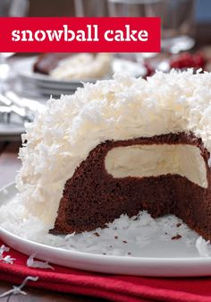 Snowball Cake – A grown-up version of the classic lunchbox treat, this cake recipe will bring back memories and bring up the question we all had as kids: how did the cream filling get in there?