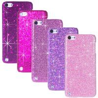 iPod Touch 5 Case Bundle including 5 Bling Glitter Hard Cases for iPod Touch 5th Generation / 4 Stylus Pens / 2 Screen Protectors / 1 ECO-FUSED Microfiber Cleaning Cloth - Perfect for Girls - (Dark Purple, Purple, Pink, Light Pink, Hot Pink):Amazon:MP3 Players & Accessories