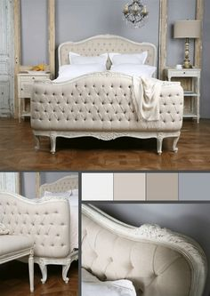 The bed is so gorgeous
