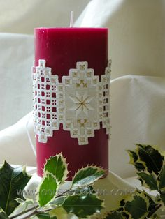 Cols Creations - Traditional Hardanger Designs - The Christmas Collection Make Beautiful Gifts or Just Used To Decorate Your Room Or Tree At Christmas Time.