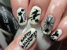 DIY Halloween Nails : Playing Around with GITD Polish