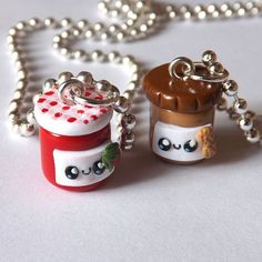 Obnoxiously cute peanut butter and jelly necklaces.