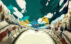 Winter X Games by Golden Wolf , via Behance