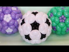 Футбольный мяч из шаров / Soccer ball of balloons, twisting - YouTube