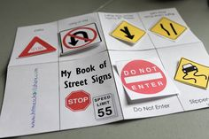 Neighborhood street sign printables teach kids about safety.