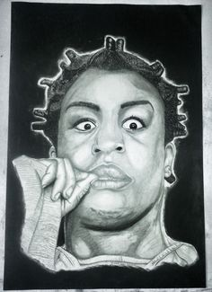 This drawing is of Crazy Eyes from Orange is the New Black Netflix series. Love her character decided to draw her. Crazy Eyes, Orange Is The New Black, Netflix Series, Love Her, Portrait, Drawings, Artwork, Character, Dibujo