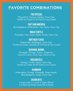 shaved ice flavor combinations | flavors. Our shaved ice also features popular add-ons including ice ...