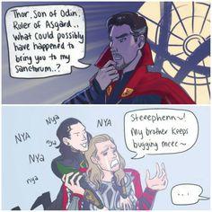 Thor: Ragnarok  LOL XD #Loki #Thor #DoctorStrange #Marvel