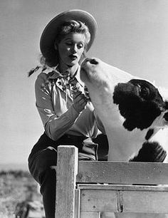 My two favorite things in life...the EPIC Lucille Ball at home with a awesome cow!! Wish I could have met her.