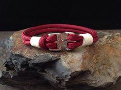 Alabama Crimson Tide Nautical Bracelet by KnotOnlyParacord on Etsy, $14.00