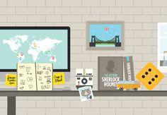 Workbrands Studio // Website & illustration by Jonathan Quintin, via Behance