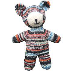 Arne & Carlos Teddy Pattern using Regia Sock Yarn