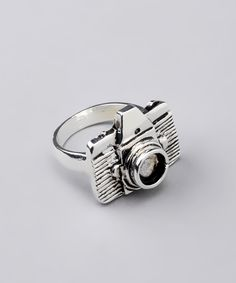 Little Shutter Bug Silver Camera Ring - ZAD Cannot say how much I love this little ring!