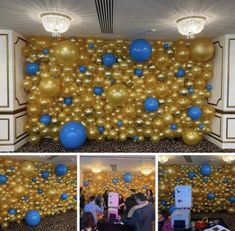 "This Bat Mitzvah celebration at the Crystal Plaza in Livingston included a ""live drink wall,"" fire eaters, break dancers and a metallic balloon wall. Balloon Backdrop, Balloon Wall, Balloon Decorations, Bat Mitzvah, Wall Fires, Metallic Balloons, Photo Cubes, Wall Backdrops, Backdrop Design"