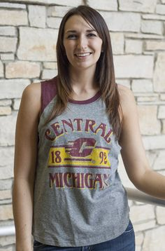 Central Michigan Flying C 1892 Ladies Muscle Tank