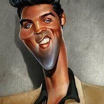 ELVIS PRESLEY #caricature by Bogdan Covaciu . Amazing talent!