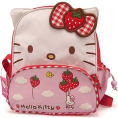 Aliexpress.com: Comprar 2015 de fresa caliente venta bolso del paquete Hello Kitty encantador mochilas niño de la alta calidad de la lona mochila bolsos lindos de bolsa de marihuana fiable proveedores en HELLO KITTY FACTORY PRICE RETAILS STORE