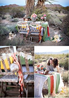 desert wedding picnic