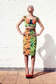Graffiti Pencil Skirt