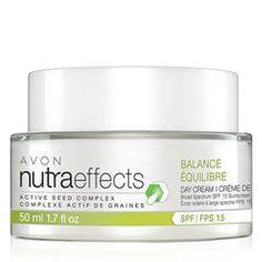 "Avon nutraeffects Balance Day Cream Broad Spectrum SPF 15 (""Avon Ind.SLS.Rep."")AVON INC. cbrenda007.avonrepresentative.com  Avon Skincare"