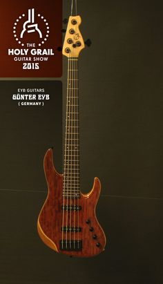 Exhibitor at the Holy Grail Guitar Show 2015:Günter Eyb, Eyb Guitars, Germany. http://www.eyb-guitars.eu, http://holygrailguitarshow.com/exhibitors/eyb-guitars/