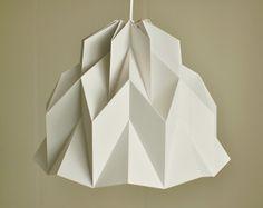 VOLANTES: Origami papel lámpara - gris / FiberStore por el laboratorio de fibra