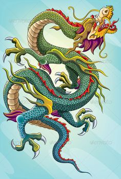 Buy Chinese Dragon Painting by on GraphicRiver. chinese dragon painting for your chinese new year 2012 celebration. This illustration contains a transparency blend, . Japanese Dragon, Japanese Art, Dragon Illustration, Chinese Dragon Tattoos, Dragon Sketch, Dragons, Dragon Images, Dragon Artwork, Year Of The Dragon
