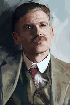 Fan art- Portrait of Arthur Shelby- Peaky Blinders Peaky Blinders Poster, Peaky Blinders Wallpaper, Peaky Blinders Series, Peaky Blinders Thomas, Cillian Murphy Peaky Blinders, Cthulhu, Character Inspiration, Character Design, Red Right Hand