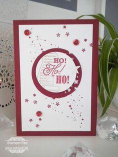 stampin greetings from santa chilli red Christmas weihnachten rot grüße vom Weihnachtsmann
