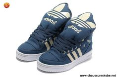 on sale 926a4 0d0c1 Chaussures Adidas X Jeremy Scott Big Tongue Chaussures Bleu Blanc Logan,  Kevin Durant Basketball Shoes