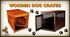 Wooden Dog Crates That Look Like Furniture are a fantastic way of providing your pet pooch with a den without having a 'metal monstrosity' ruining your home Wooden Dog Crate, Dog Crates, Crate End Tables, Dog Crate Furniture, Airline Pet Carrier, Pet Carriers, Westies, Dog Accessories, Dog Supplies