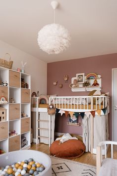 Over the years, our girls room has changed. Learn everything about our nursery # Mädchenzimmer Your design can become reality with . Baby Bedroom, Baby Room Decor, Nursery Room, Girls Bedroom, Baby Boy Rooms, Little Girl Rooms, Kid Rooms, Low Loft Beds, Small Nurseries