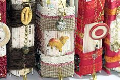love these journals! charmed, fabric, embroidered...they are artwork at its finest!
