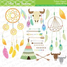 Tribal Clipart Indian clipart Dreamcatcher by CeliaLauDesigns