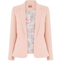 TAILORED EVENT BLAZER (€4,69) ❤ liked on Polyvore featuring outerwear, jackets, blazers, pink blazer, pink jacket, blazer jacket, tailored blazer and pink blazer jacket