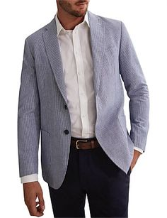 Chambray Blazer, Blazer Jacket, Mens Sport Coat, Premium Brands, David Jones, Jackets Online, Wedding Suits, Blue, Shopping